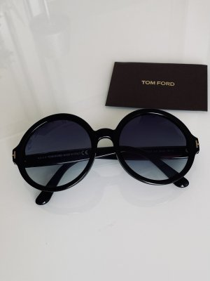 Tom Ford Ronde zonnebril zwart