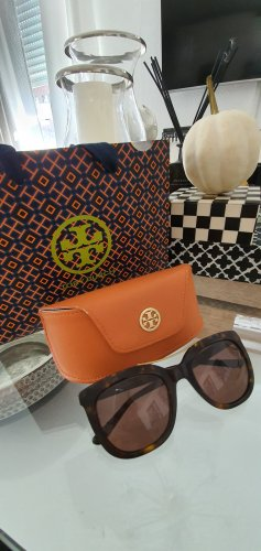 Tory Burch Occhiale da sole ovale marrone scuro