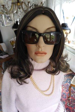 Original Vintage Gafas de sol cuadradas negro-coñac