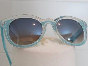 Zara Lunettes rondes bleu clair tissu mixte