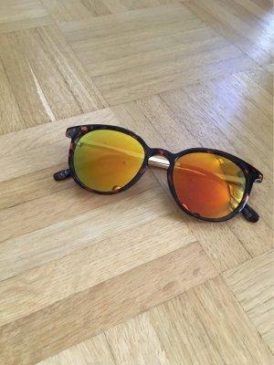 Mango Glasses black-cognac-coloured