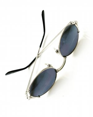 True Vintage Retro Glasses silver-colored-dark grey