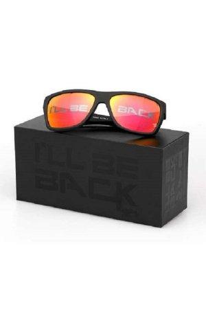 Vision Okulary retro czarny-pomarańczowy