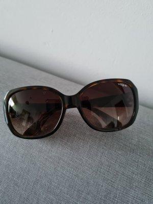Vogue Gafas de sol ovaladas marrón-negro