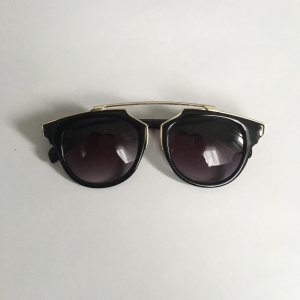 Aldo Square Glasses black-gold-colored