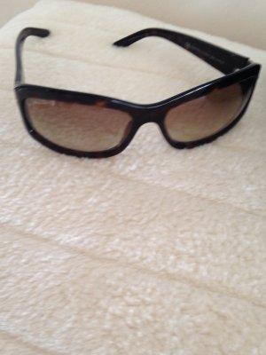Armani Angular Shaped Sunglasses black brown synthetic material