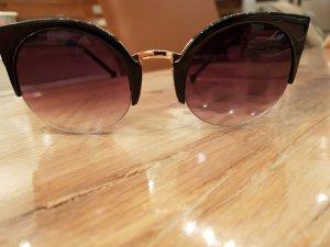 Bijou Brigitte Round Sunglasses rose-gold-coloured-brown violet