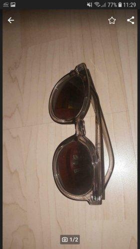 Bijou Brigitte Round Sunglasses silver-colored-light grey