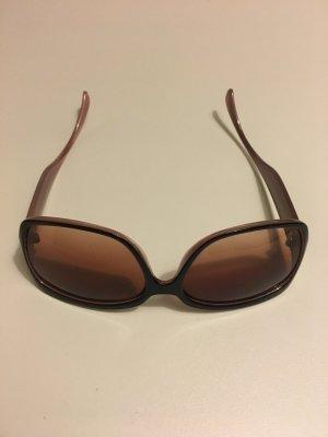 Bijou Brigitte Lunettes de soleil angulaires brun foncé