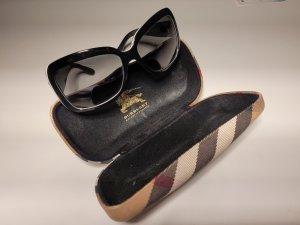 Burberry Hoekige zonnebril zwart-wit
