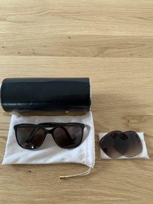 Bvlgari Okrągłe okulary przeciwsłoneczne czarny-brązowy