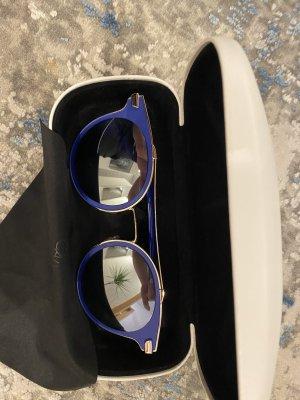 Calvin Klein Occhiale da sole rotondo blu