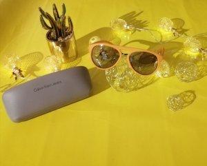 Calvin Klein Jeans Ovale zonnebril oranje