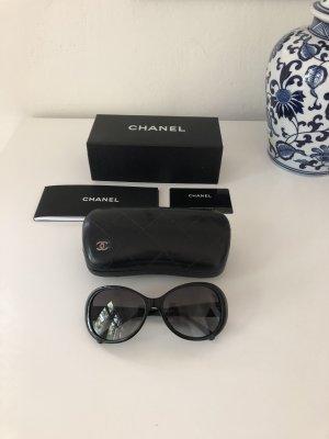 Chanel Lunettes de soleil ovales noir acétate