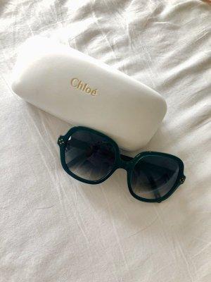 Chloé Gafas de sol cuadradas azul cadete-verde bosque
