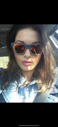 Diesel Okulary niebieski-pomarańczowy neonowy