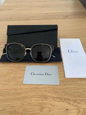 Christian Dior Kwadratowe okulary przeciwsłoneczne czarny-brązowy