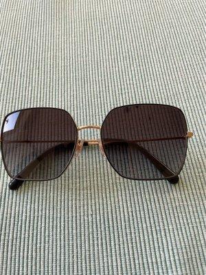 Dolce & Gabbana Owalne okulary przeciwsłoneczne złoto