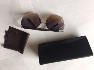 Fendi Ronde zonnebril grijs-lila-zwart