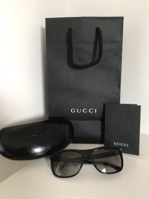 Gucci Kwadratowe okulary przeciwsłoneczne czarny