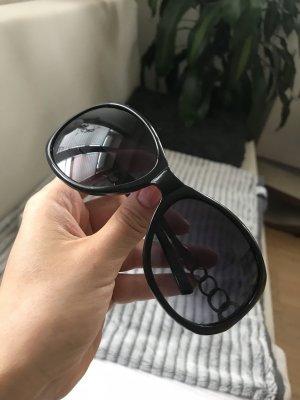 Guess Owalne okulary przeciwsłoneczne czarny