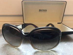 Hugo Boss Ronde zonnebril goud-groen-grijs