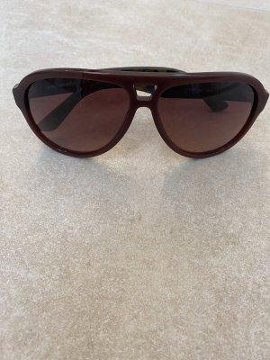 Karl Lagerfeld Okulary pilotki brązowo-czerwony