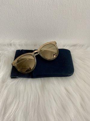 Le Specs Gafas de sol redondas color oro-beige claro