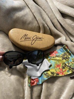Maui Jim Owalne okulary przeciwsłoneczne czarny