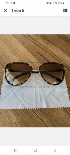 Michael Kors Oval Sunglasses gold-colored-brown