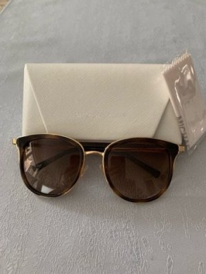 Michael Kors Okulary w stylu panto złoto-brąz