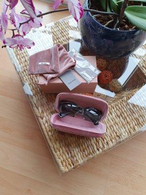 Miu Miu Oval Sunglasses black-grey