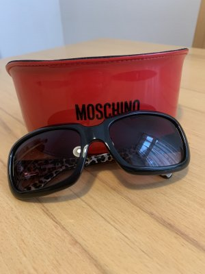 Moschino Lunettes de soleil angulaires noir