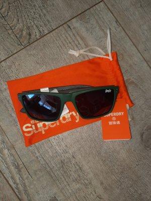Superdry Kwadratowe okulary przeciwsłoneczne zielony