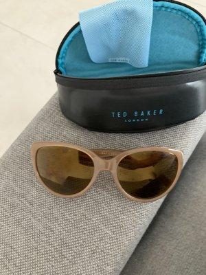 Ted baker Occhiale da sole ovale crema-oro