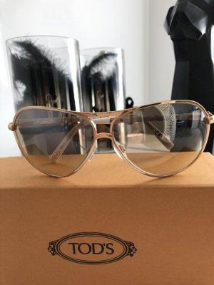 Tods Gafas de piloto blanco-color oro
