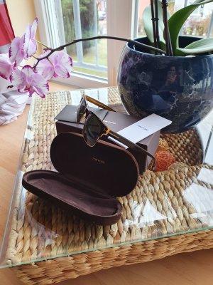 Tom Ford Gafas de sol cuadradas negro-color oro