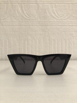 Topshop Lunettes de soleil angulaires noir