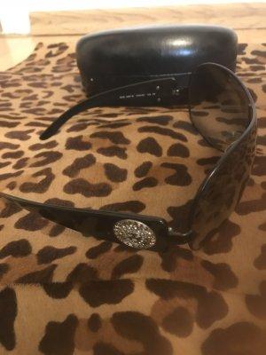 Gianni Versace Owalne okulary przeciwsłoneczne antracyt-ciemnoszary