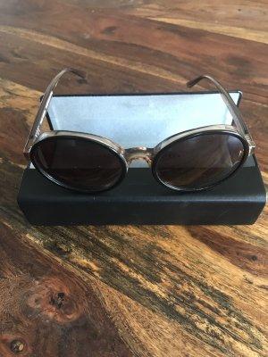 VIU Okrągłe okulary przeciwsłoneczne ciemnobrązowy-brązowy