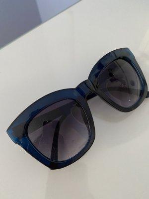 Zara Woman Kwadratowe okulary przeciwsłoneczne czarny-ciemnoniebieski