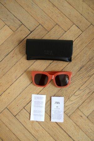 Sonnenbrille von Zara in korallenrot NEU