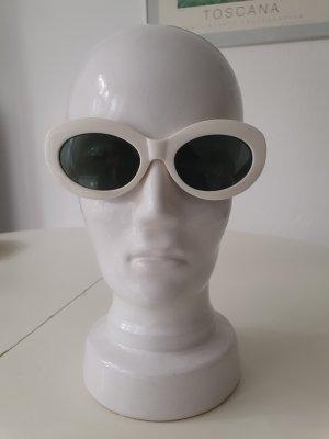 Mango Gafas de sol ovaladas blanco