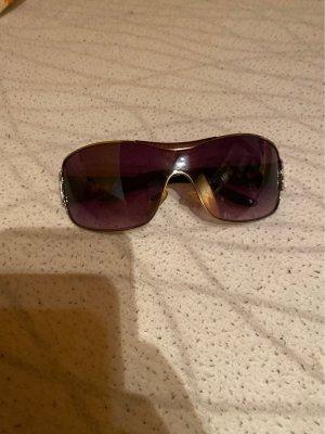 Glasses silver-colored-black