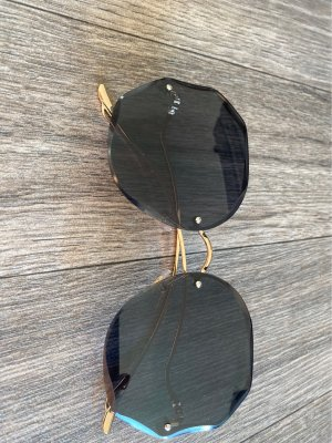Lunettes de soleil ovales doré