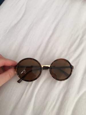 Round Sunglasses brown-gold-colored