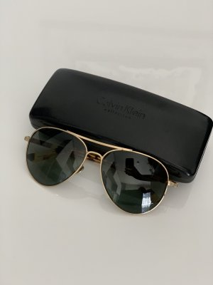 Calvin Klein Aviator Glasses black-bronze-colored