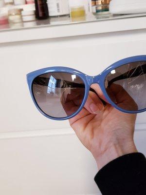 Furla Okulary motylki ciemnobrązowy-stalowy niebieski