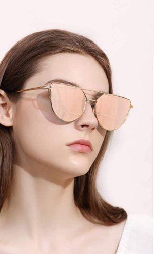 Asos Butterfly Glasses black-rose-gold-coloured