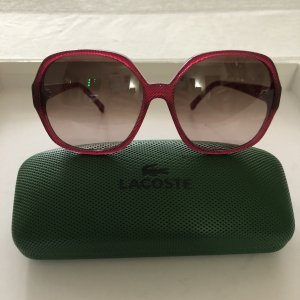 Lacoste Angular Shaped Sunglasses neon red